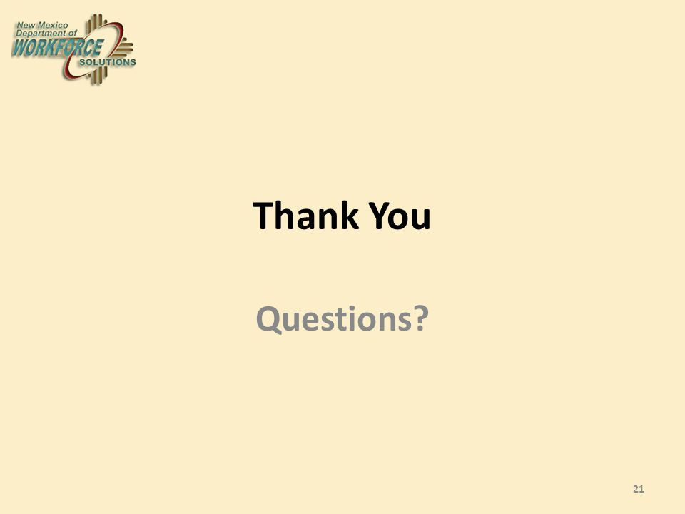 Thank You Questions 21