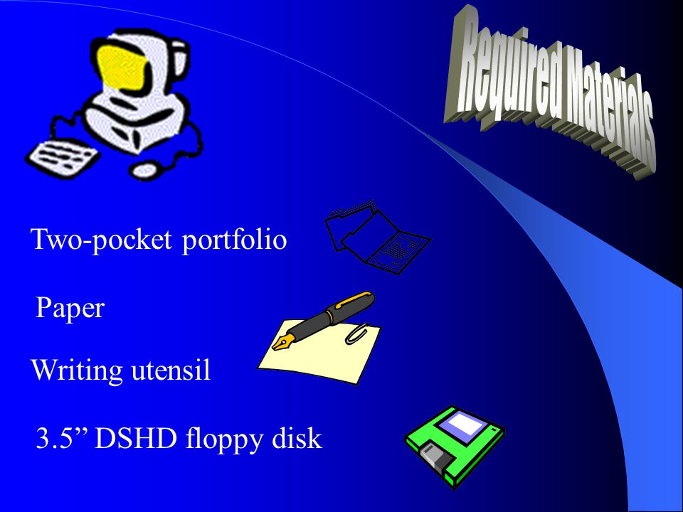 Paper Two-pocket portfolio Writing utensil 3.5 DSHD floppy disk