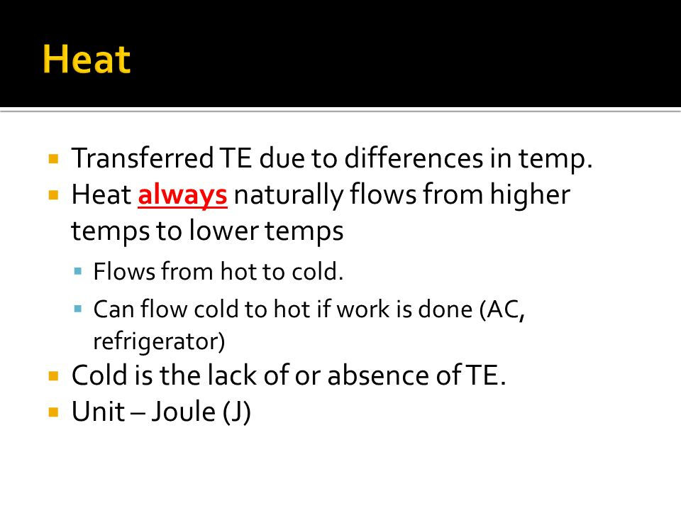  Transferred TE due to differences in temp.
