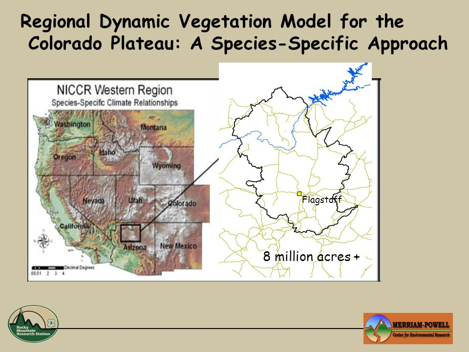 Regional Dynamic Vegetation Model for the Colorado Plateau: A Species-Specific Approach Flagstaff 8 million acres +