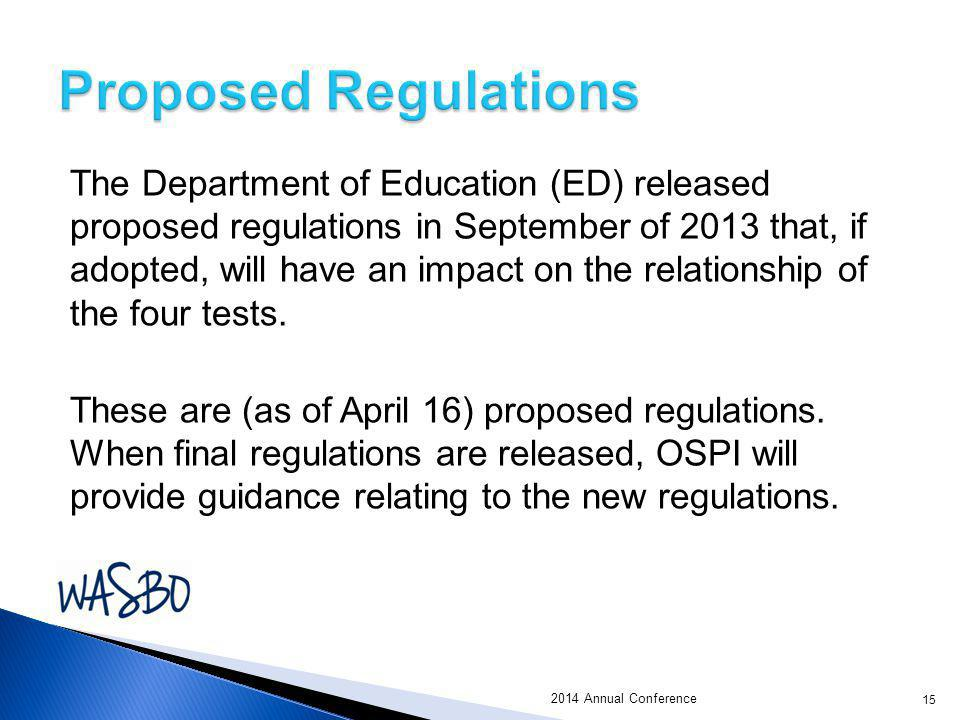 The Department of Education (ED) released proposed regulations in September of 2013 that, if adopted, will have an impact on the relationship of the f