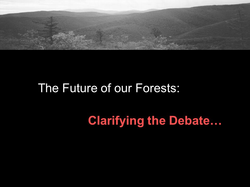 The Future of our Forests: Clarifying the Debate…