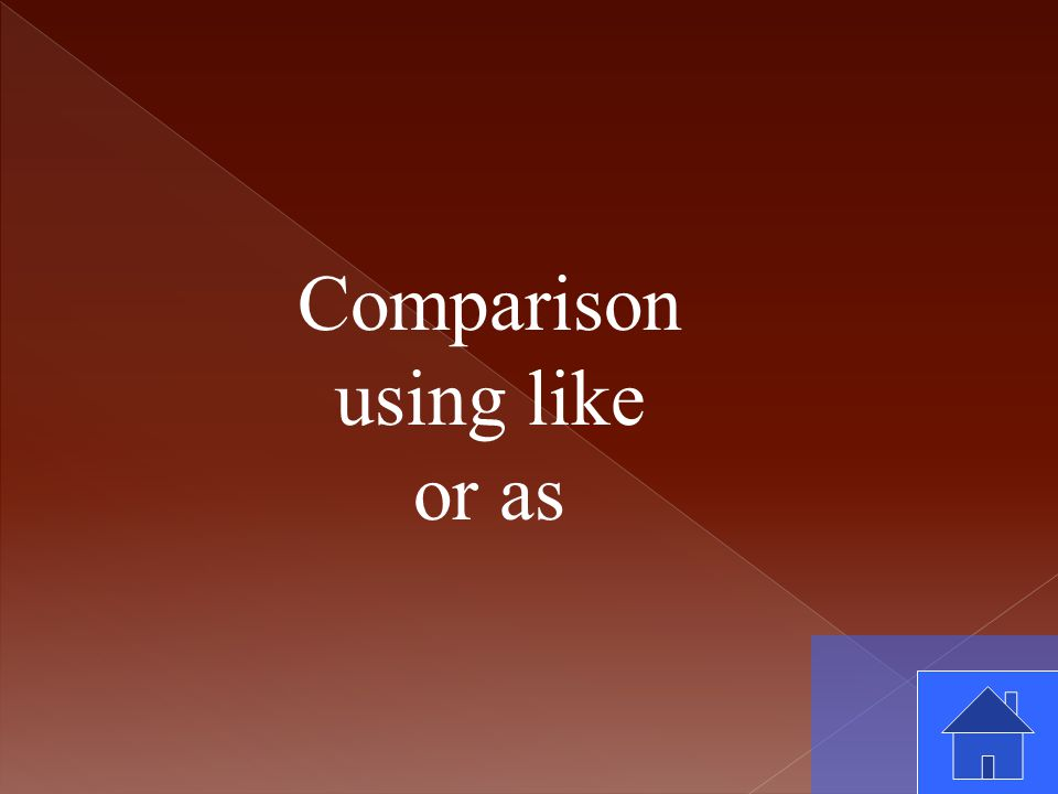 Comparison using like or as