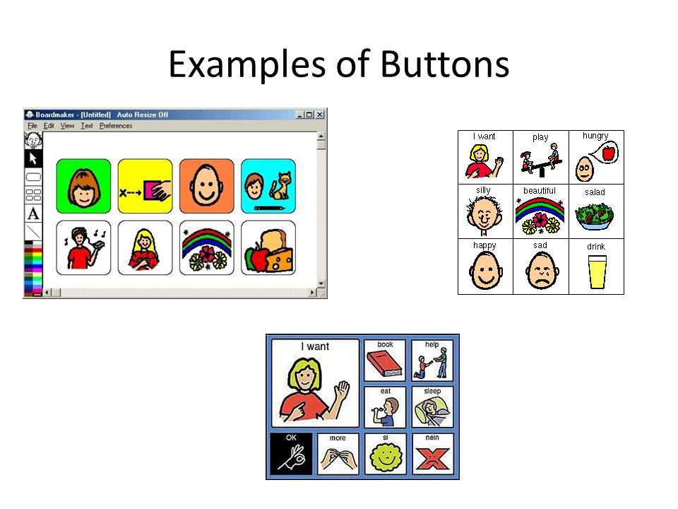 Examples of Buttons