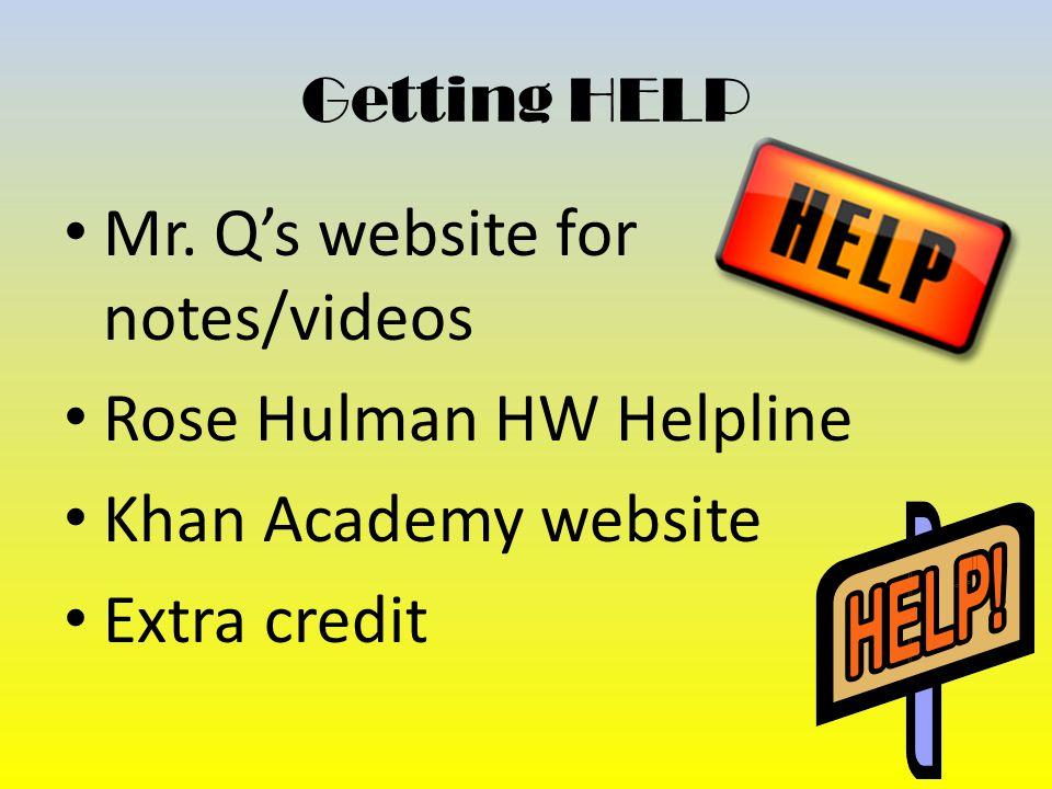 Getting HELP Mr.