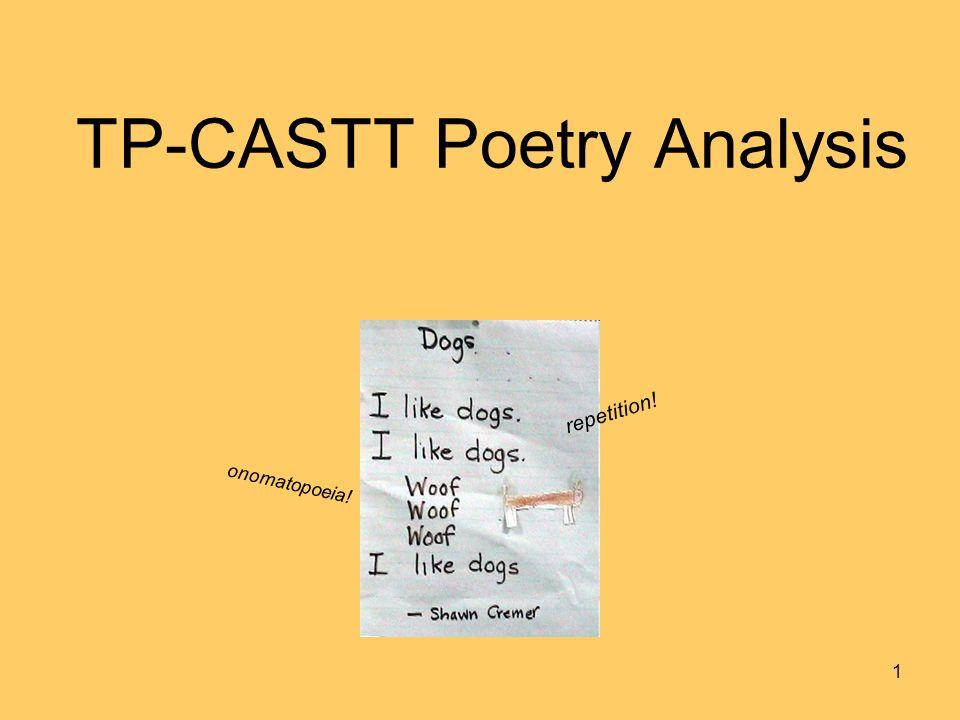 TP-CASTT Poetry Analysis 1 repetition! onomatopoeia!