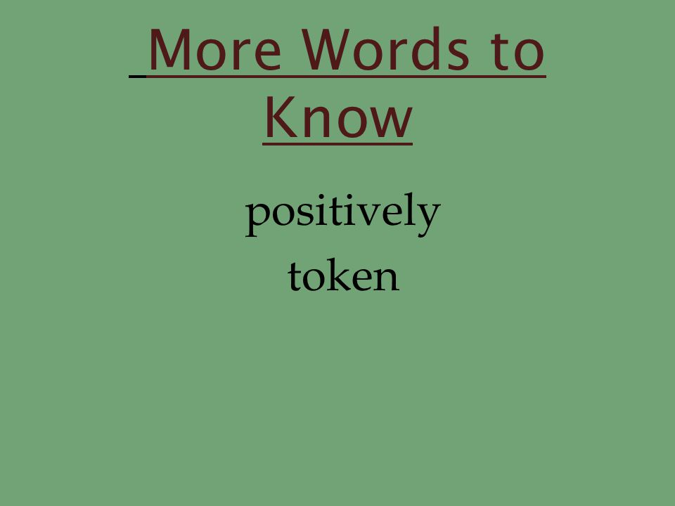 Words to Know nickels quarters rich