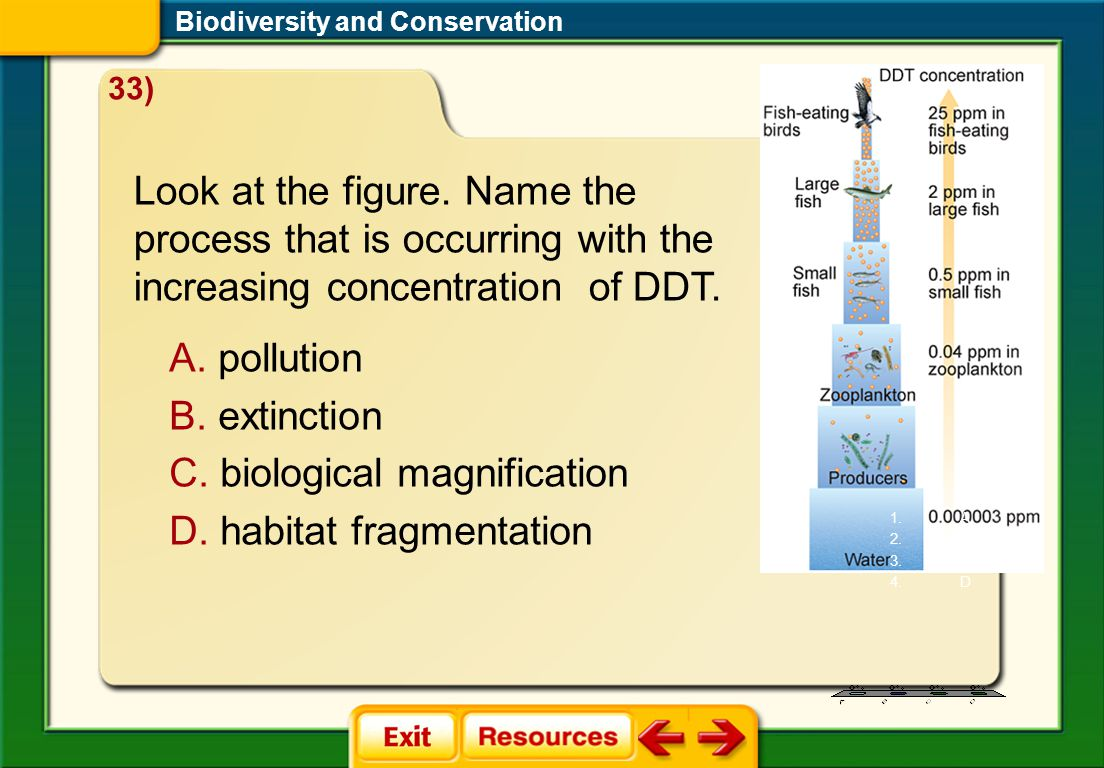 CAQ 1 Biodiversity and Conservation Look at the figure.