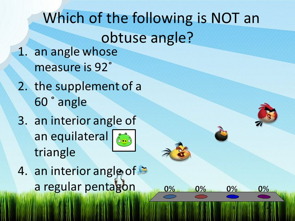 If a quadrilateral has interior angles of measures 52˚, 103˚, and 79˚, what must be the measure of its fourth interior angle.