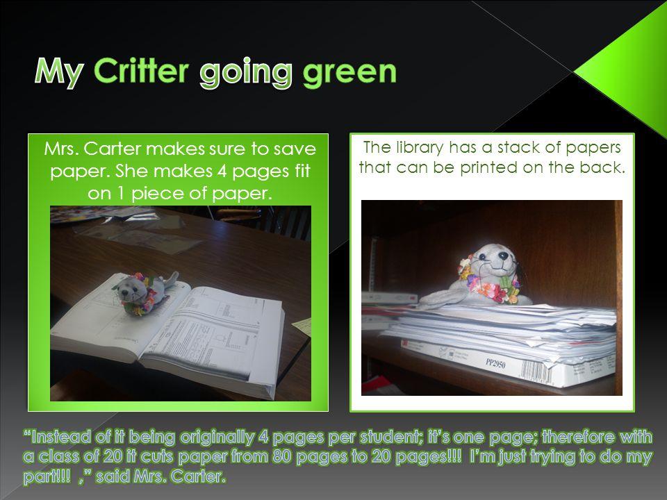 Kristen Milton telling what she thinks going green is.