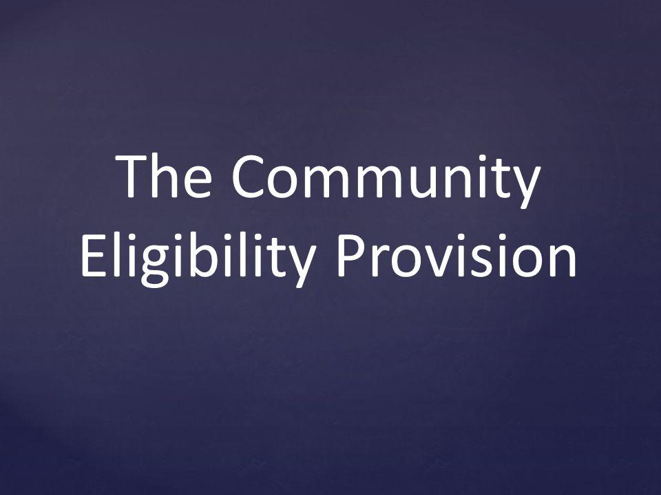 The Community Eligibility Provision