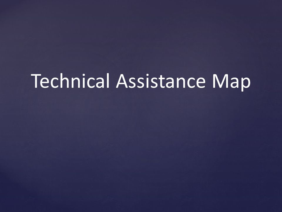 Technical Assistance Map