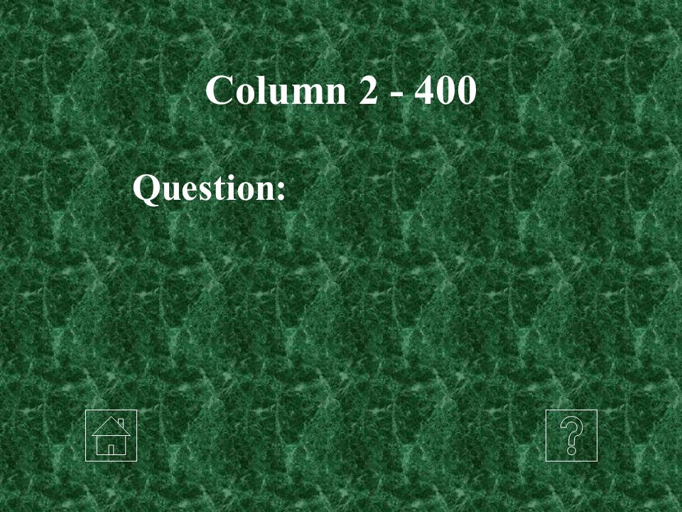 Column 2 - 400 Question: