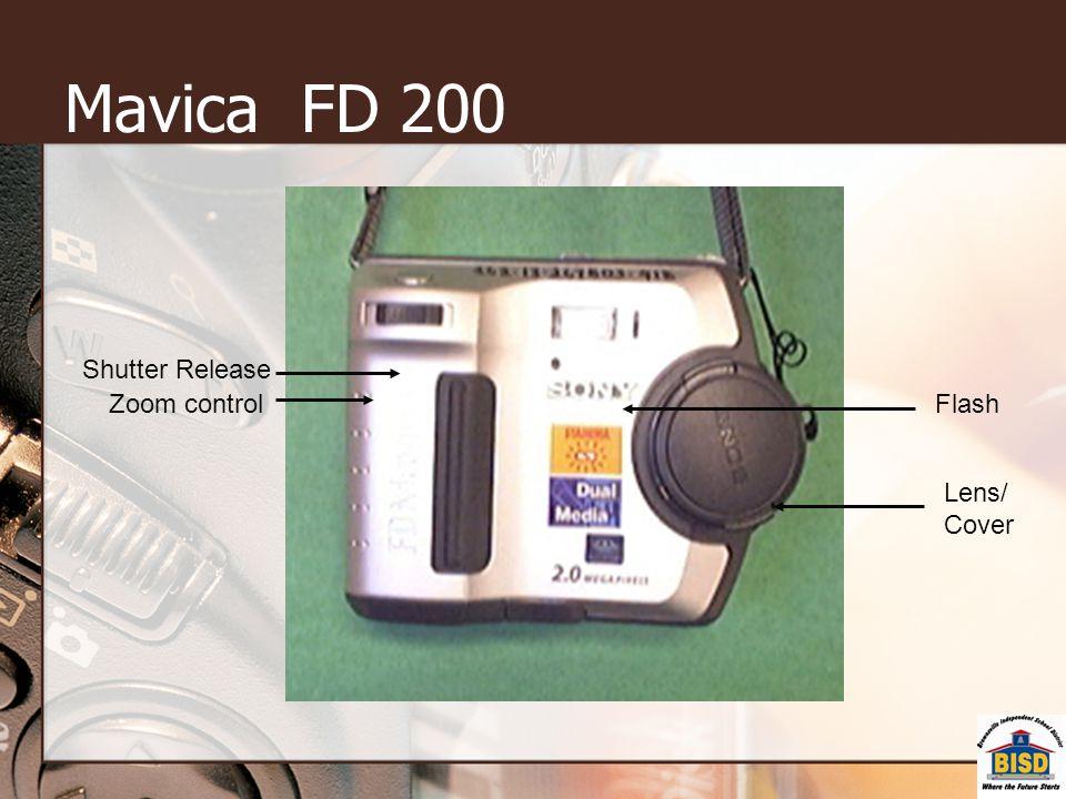 Mavica FD 200 Zoom control Lens/ Cover Flash Shutter Release