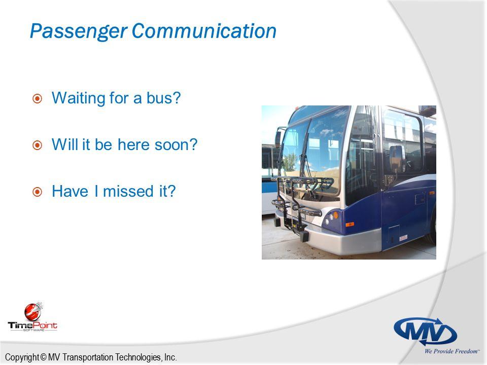 Copyright © MV Transportation Technologies, Inc.