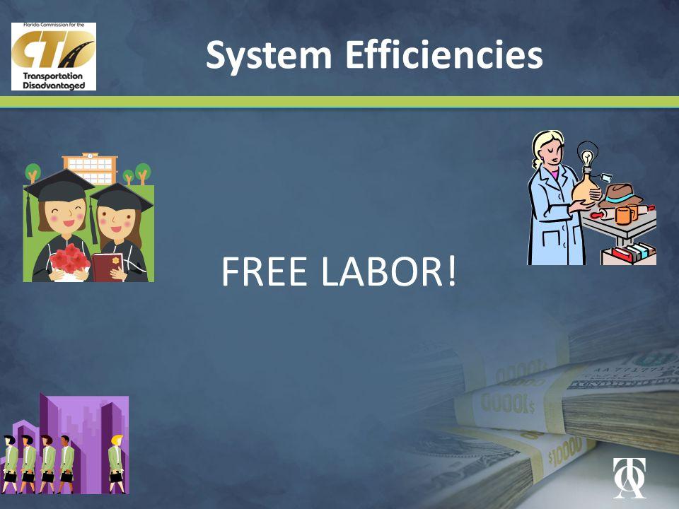 System Efficiencies FREE LABOR!