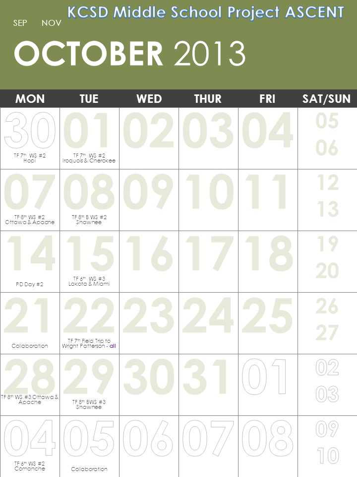 Note: You can print this template to use as a wall calendar.