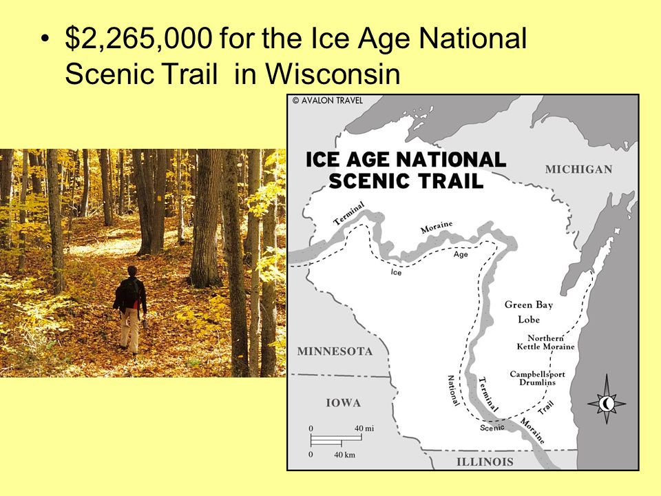 $2,265,000 for the Ice Age National Scenic Trail in Wisconsin