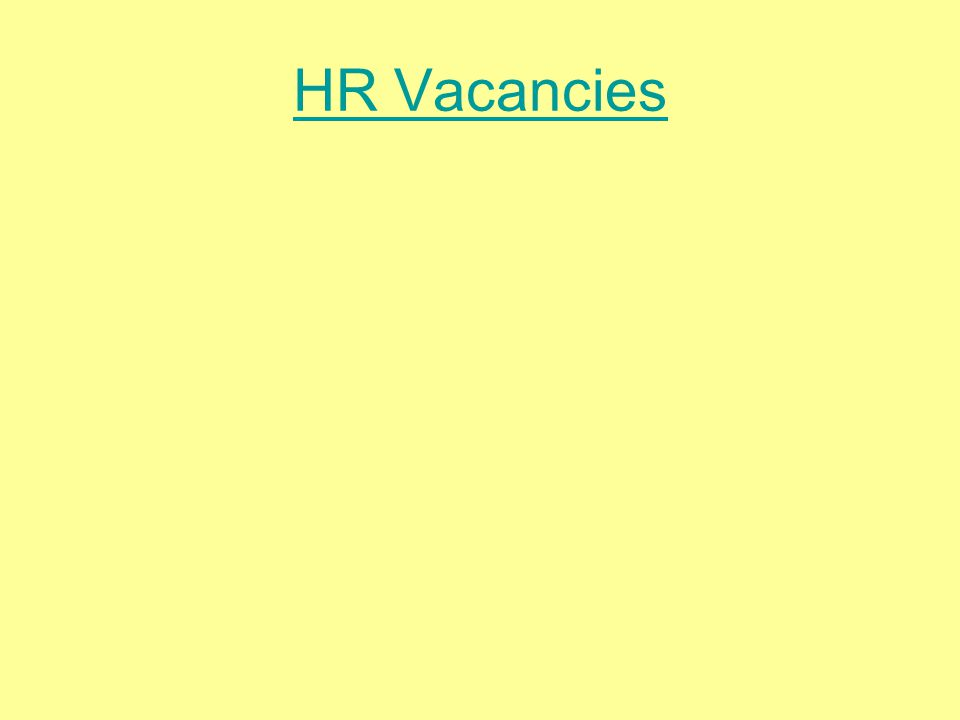 HR Vacancies