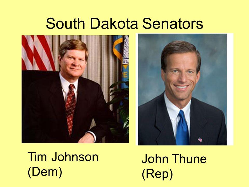 South Dakota Senators John Thune (Rep) Tim Johnson (Dem)