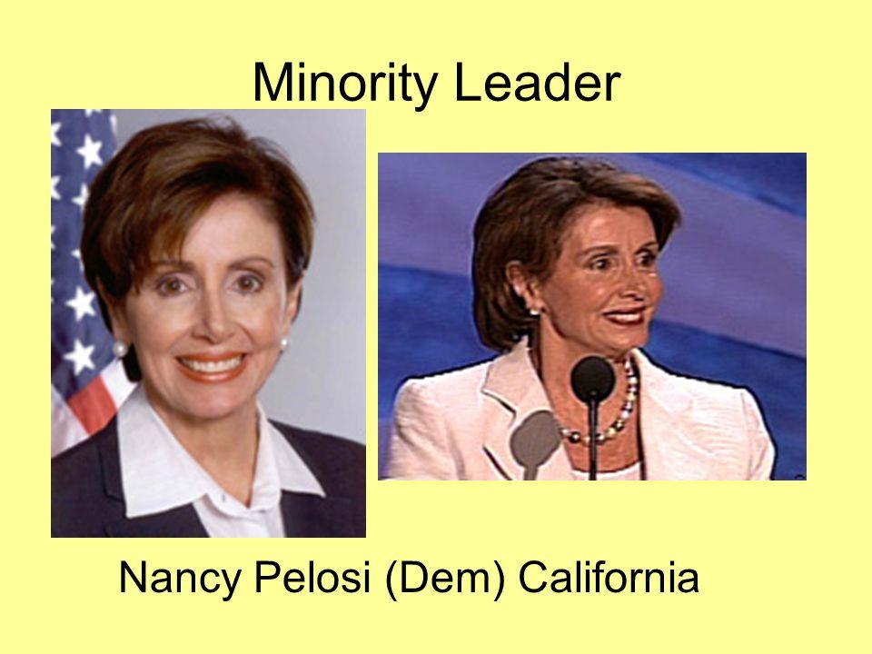 Nancy Pelosi (Dem) California Minority Leader