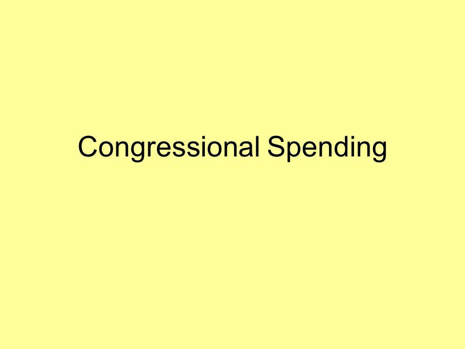 Congressional Spending
