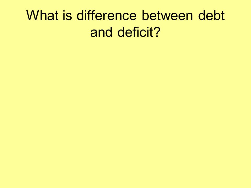 What is difference between debt and deficit