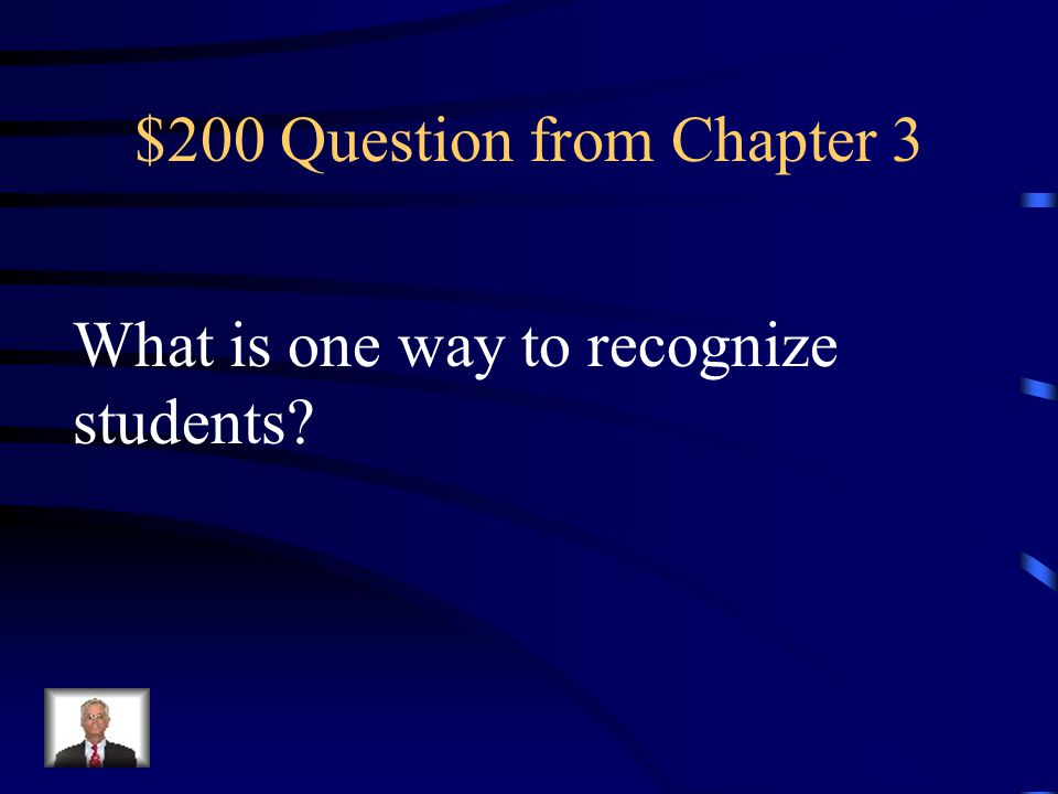 $100 Answer from Chapter 3 What is personalized recognition