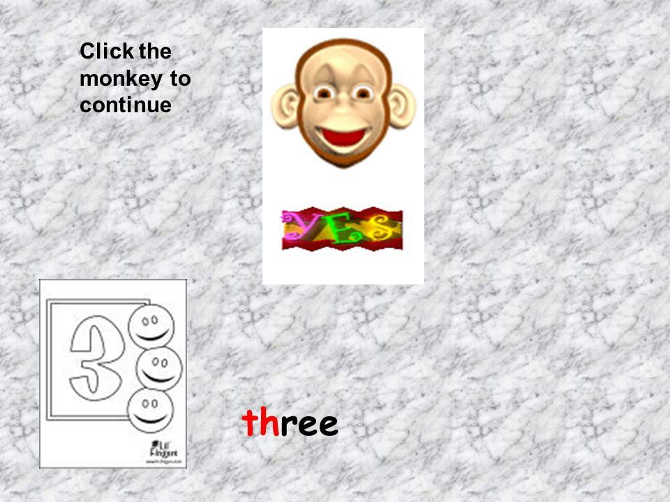 Click the monkey to continue three