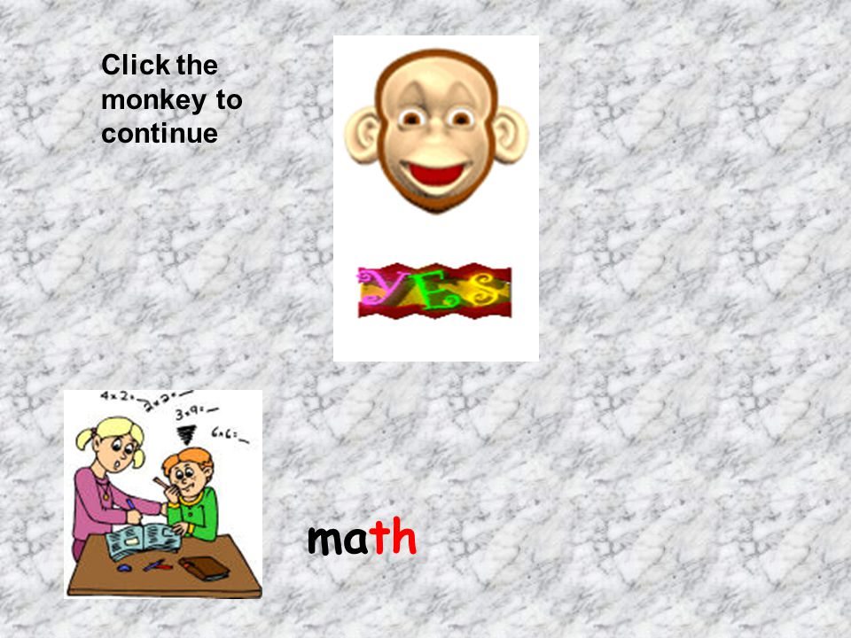 Click the monkey to continue fourth