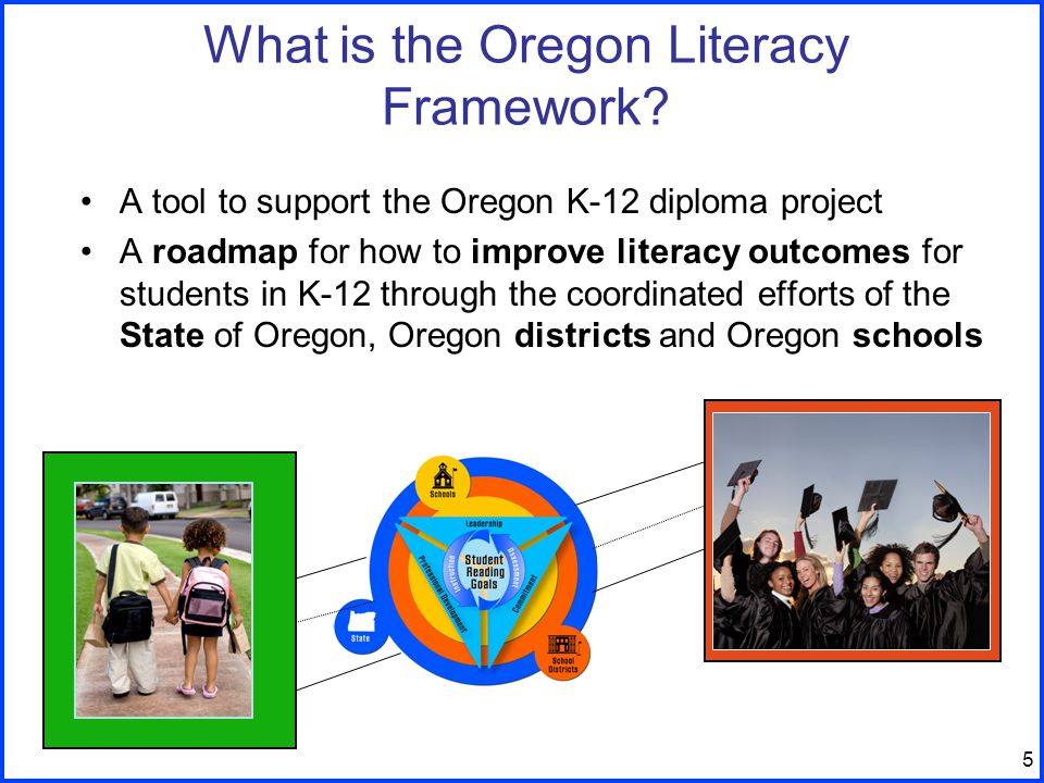 5 What is the Oregon Literacy Framework.