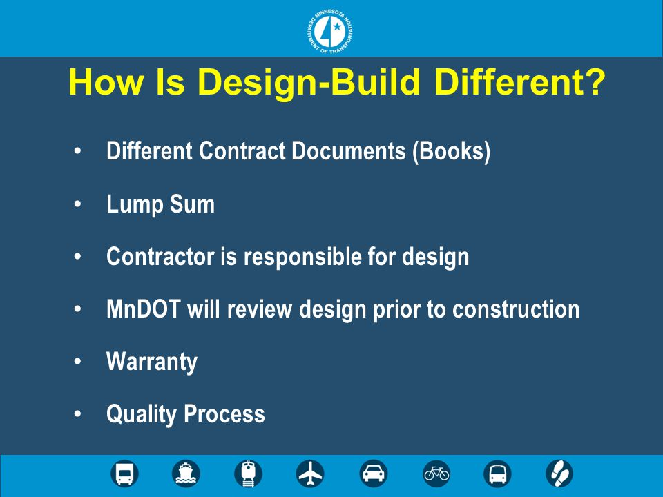 Contract Documents Instructions to Proposers (ITP) Book 1 – Contract Book 2 – Project Requirements Book 3 – Project Standards Reference Information Documents (RID)