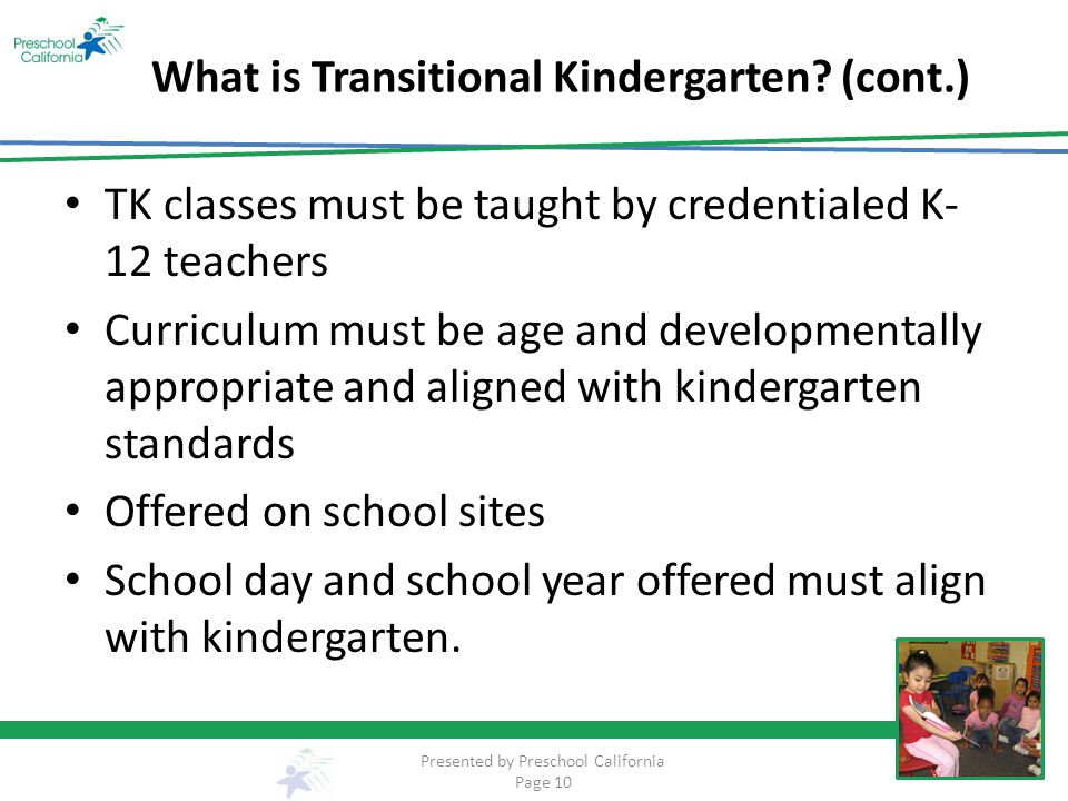 What is Transitional Kindergarten.