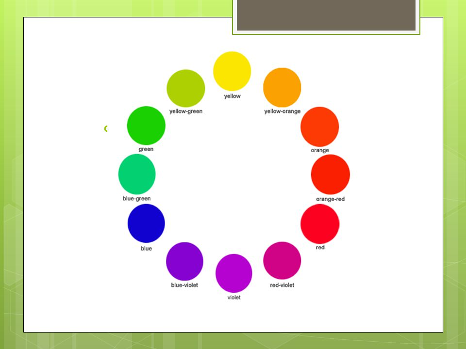Primary Colors  Yellow, red, blue are the basic colors and cannot be created by mixing other colors.
