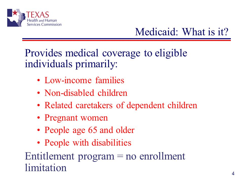 45 Texas Medicaid: DSH Payment Medicaid Disproportionate Share Hospital (DSH) Program Source of reimbursement to state-operated and non-state (local) Texas hospitals that treat indigent patients.