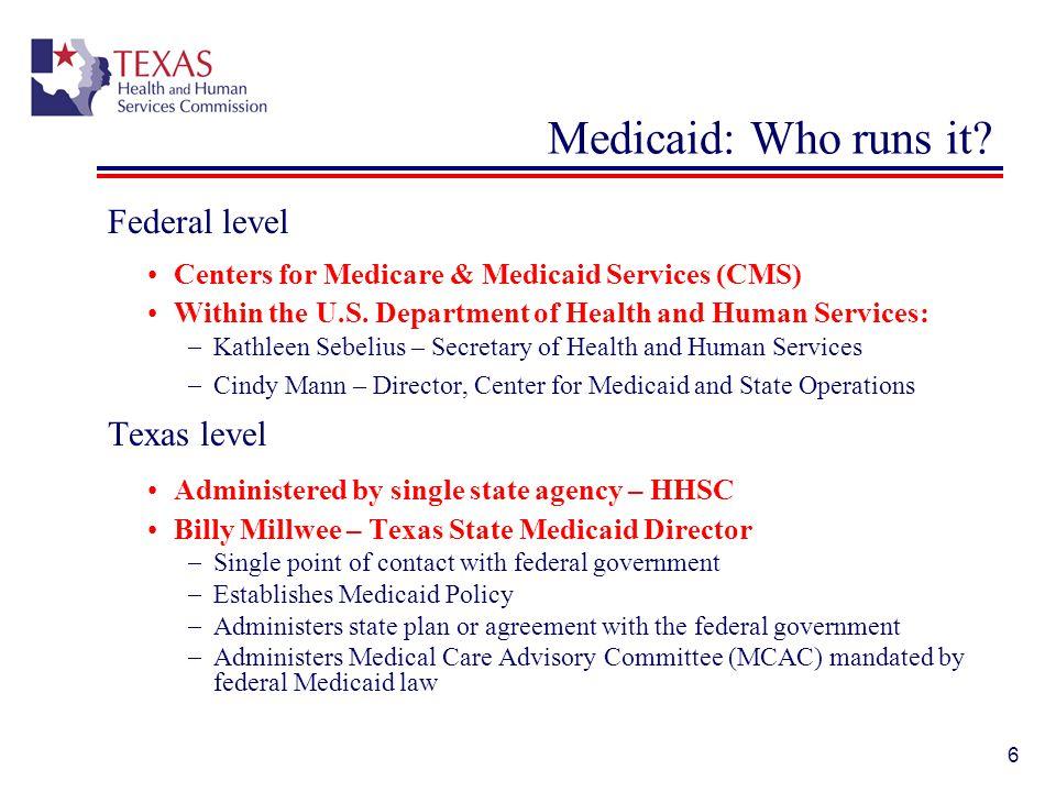 37 Texas Medicaid: Enrollment & Spending June 2011, 3.3 million people received Medicaid.