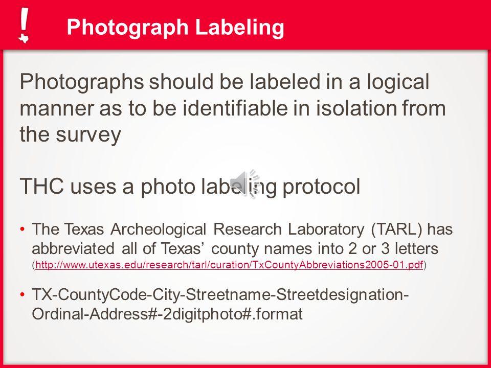 Photo Log Example