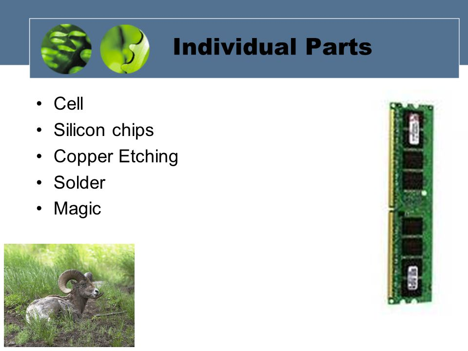 Individual Parts Cell Silicon chips Copper Etching Solder Magic