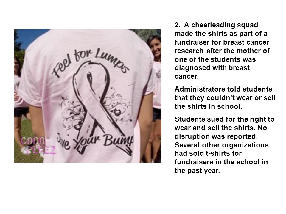 3.Student wore the shirt in school.