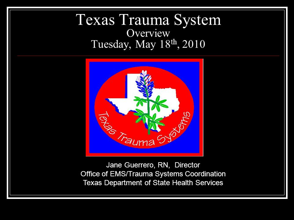 Texas EMS/Trauma System History Appropriations continued to increase in 2007.