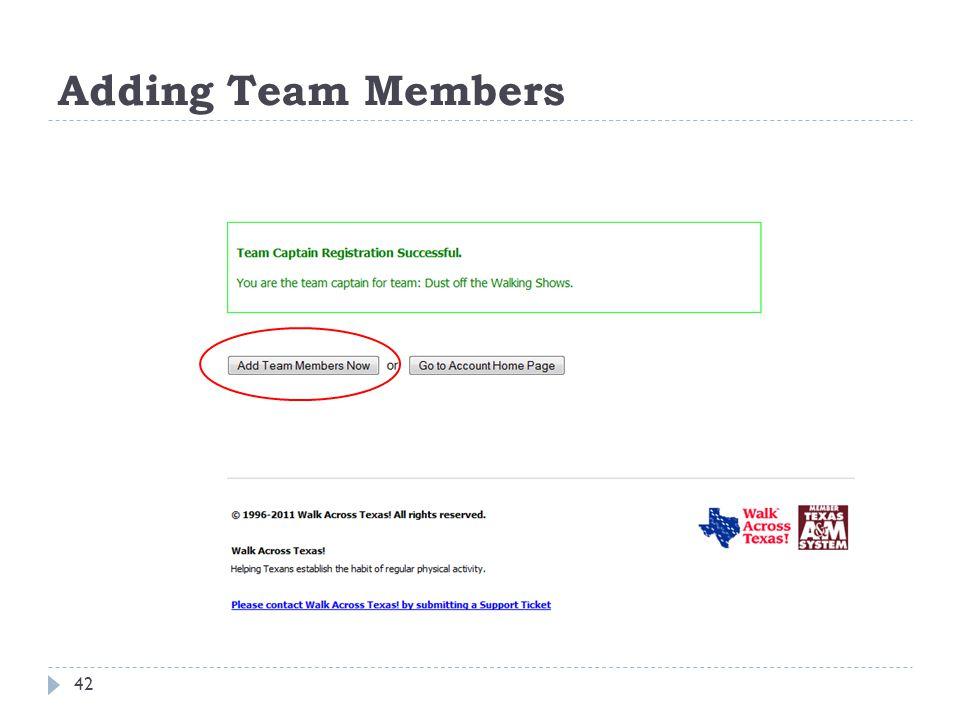 Adding Team Members 42
