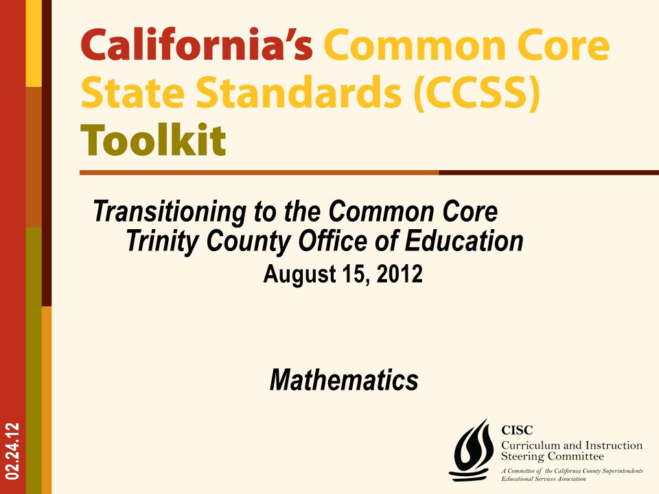 Common Core State Standards Implementation Considerations All Teachers – Scaffold comprehension of increasingly complex texts – Integrate media sources into instructional activities – Support/monitor informal talk ELA Teachers – Teach more informational text – Teach how a wide variety of forms fall into three overarching modes of writing: Argument, Expository, and Narrative Science and History Teachers – Teach Reading and Writing skills in their content areas explicitly Mathematics Teachers – Teach the habits of mind that students need to develop a deep, flexible, and enduring understanding of mathematics 32