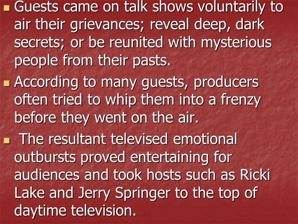 Hot Topic: Do you consider themes in these T.V.shows as pushing the envelope today.