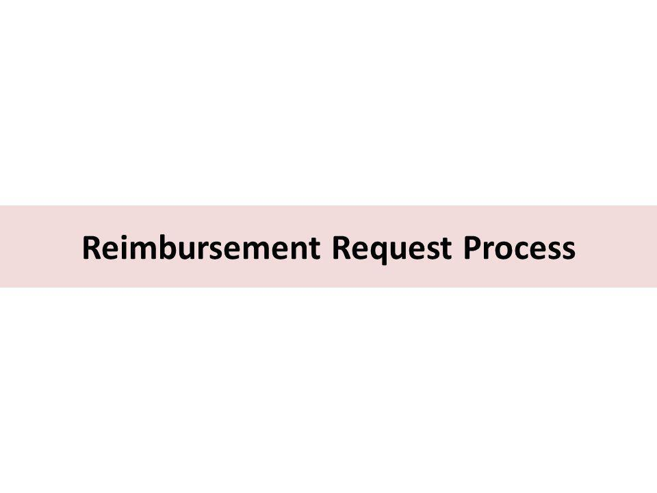 Reimbursement Request Process