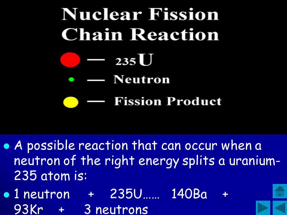 U-235 is said to be fissile because the nucleus can easily be split, producing vast amounts of energy, in a reaction process called nuclear fission .