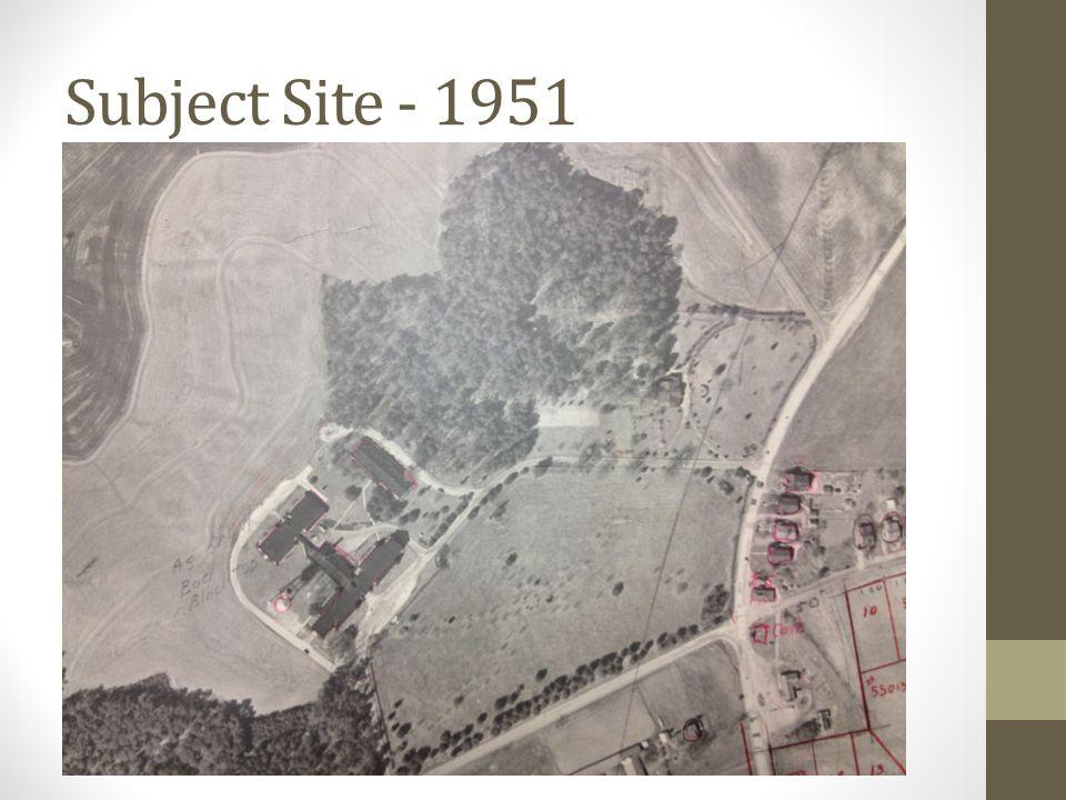 Subject Site - 1951