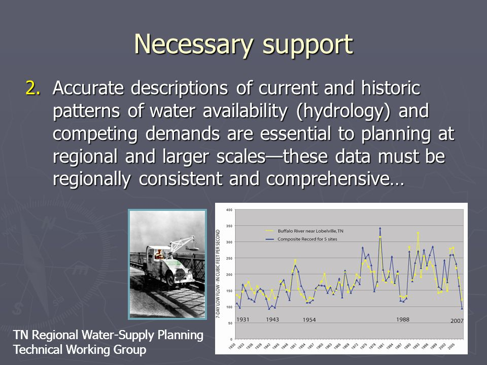TN Regional Water-Supply Planning Technical Working Group TN Regional Water-Supply Planning Technical Working Group Necessary support 2.Accurate descr