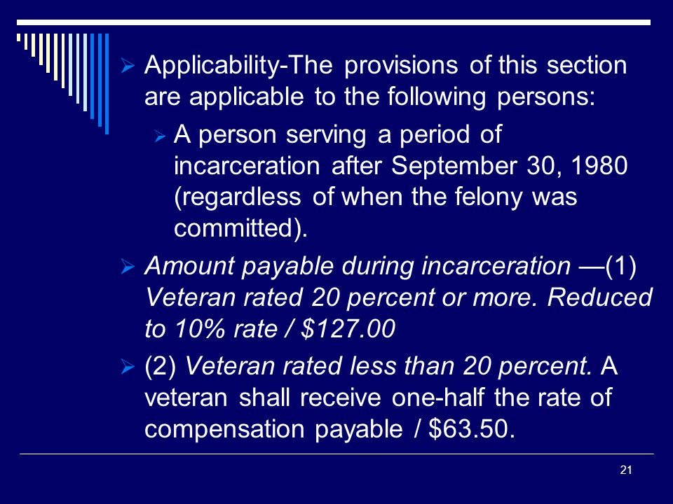  Applicability-The provisions of this section are applicable to the following persons:  A person serving a period of incarceration after September 30, 1980 (regardless of when the felony was committed).