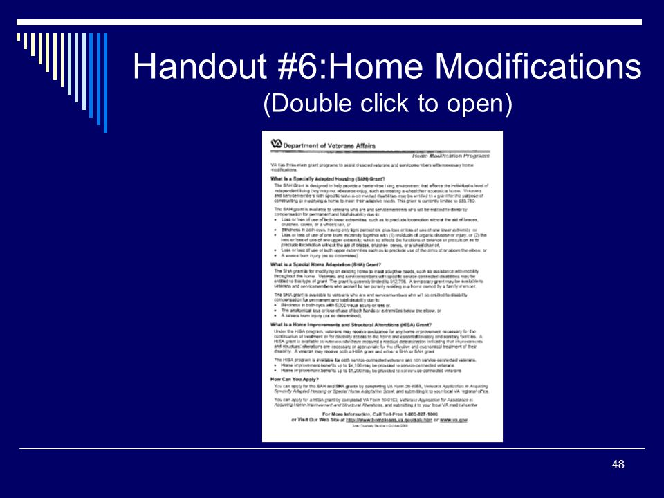 Handout #6:Home Modifications (Double click to open) 48