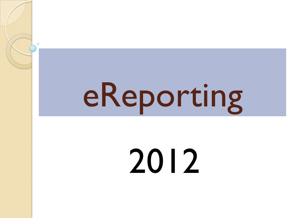 eReporting 2012